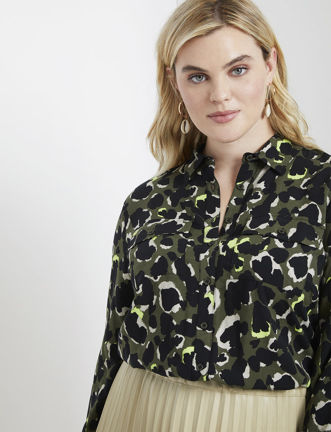 Long Sleeve Button Down Top by Eloquii