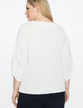 9-to-5 Draped Sleeve Top Soft White