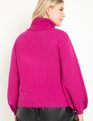 Puff Sleeve Sweater Bright Pink