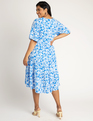 Printed Tiered Dress Scattered Petals