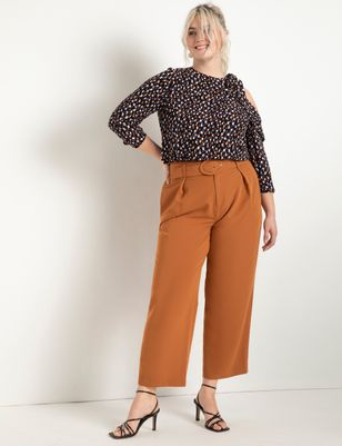 Pleat Front Trouser With Belt