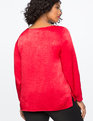 Ruched Sleeve Top SCARLET SAGE