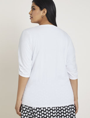 Gathered Front Easy Tee