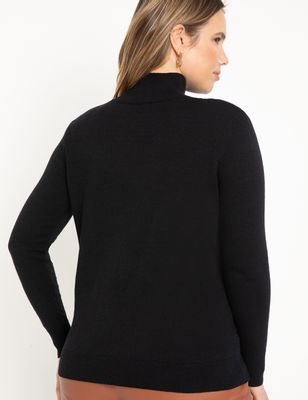Turtleneck Shoulder Pad Sweater