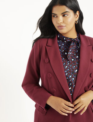 Long Button Detail Blazer