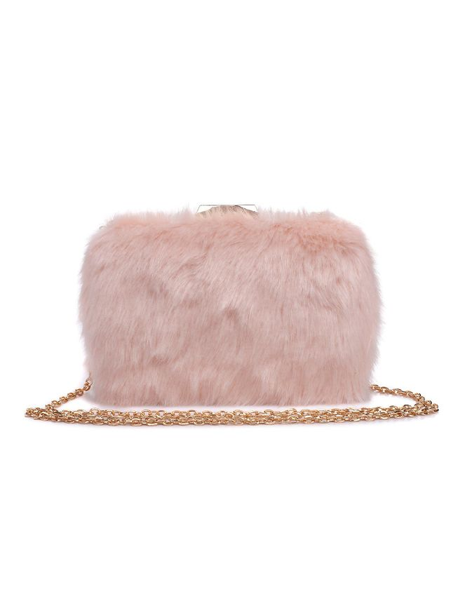 Faux Fur Clutch - Extended Length