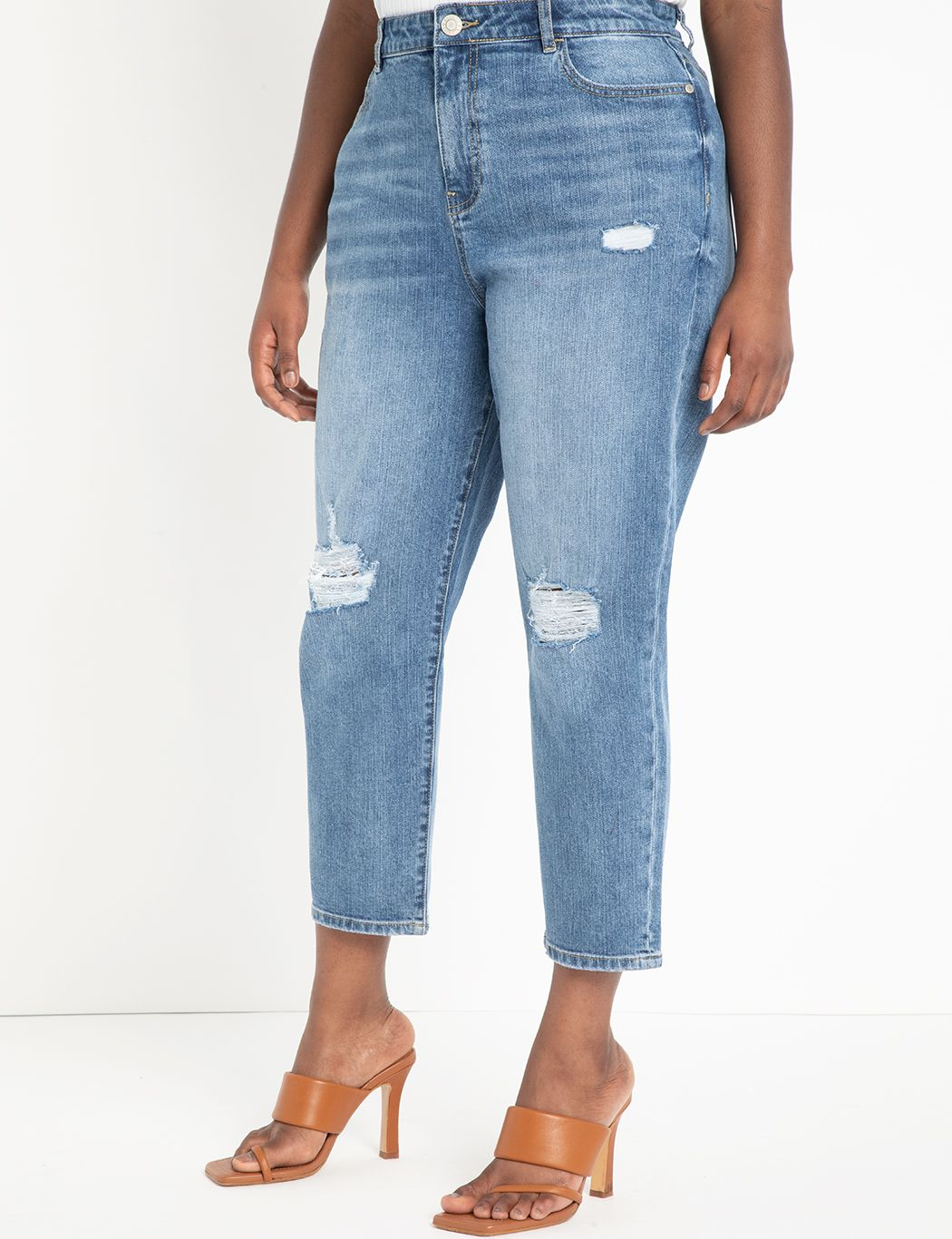 Viola Fit Stretch Denim Mom Jean
