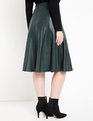 Studio Faux Leather Trumpet Skirt Black Forest