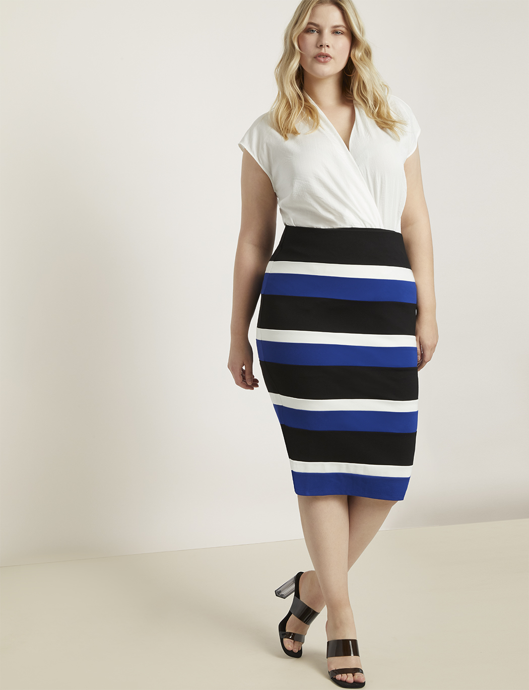 Colorblock Column Skirt 13