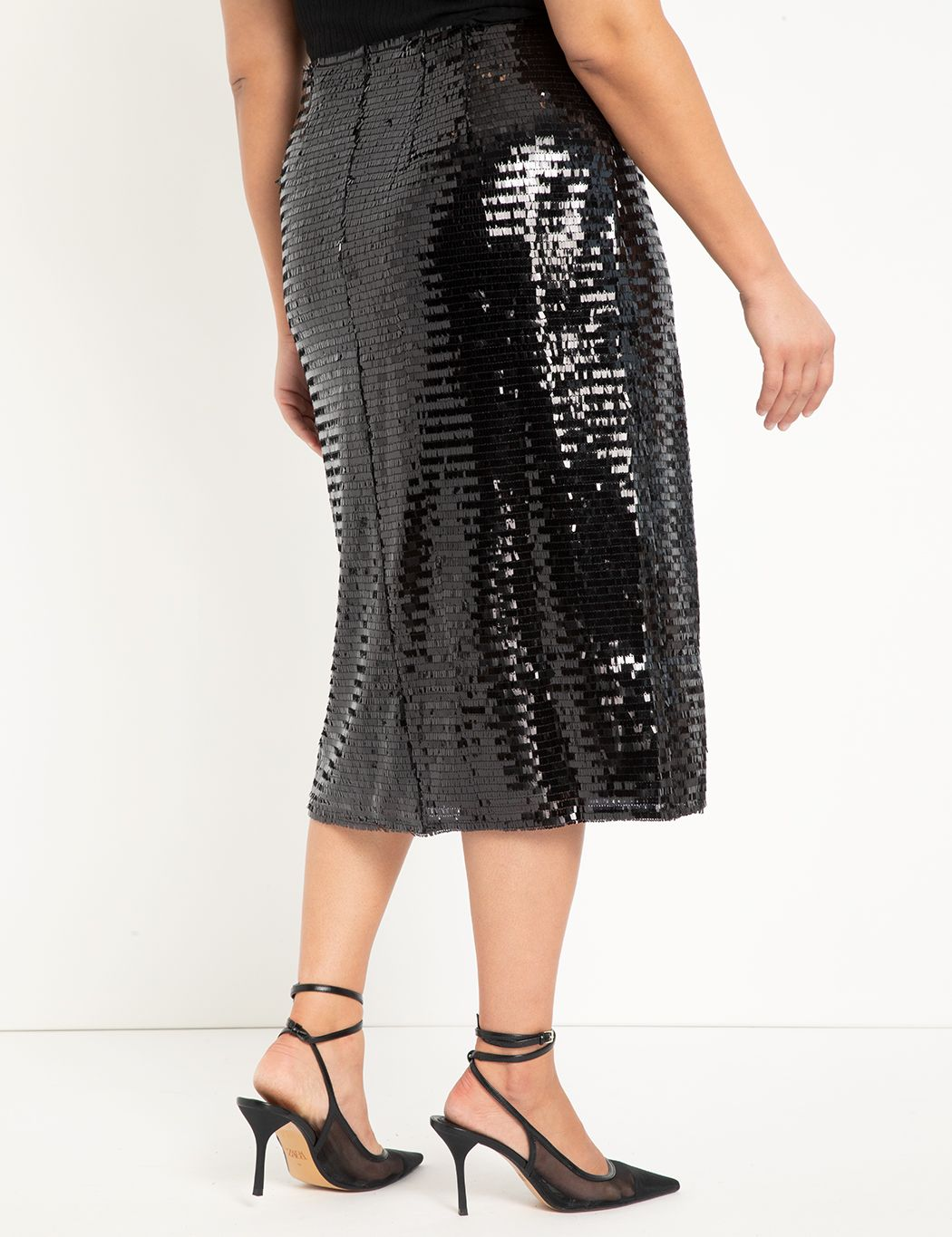Sequin Column Skirt