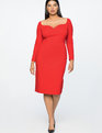 Jason Wu X ELOQUII Sweetheart Sheath Dress Barbados Cherry