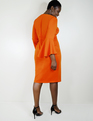 Flare Sleeve Scuba Dress On Fire