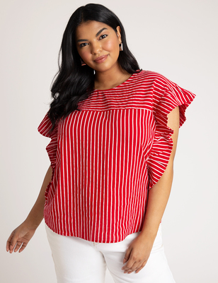 Bow Back Stripe Top
