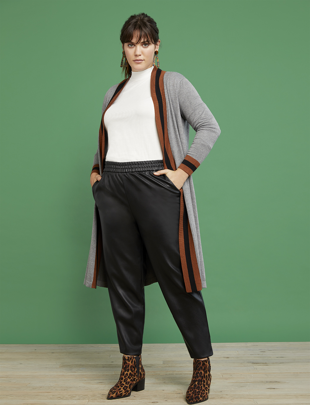 R29 x ELOQUII Faux Leather Jogger