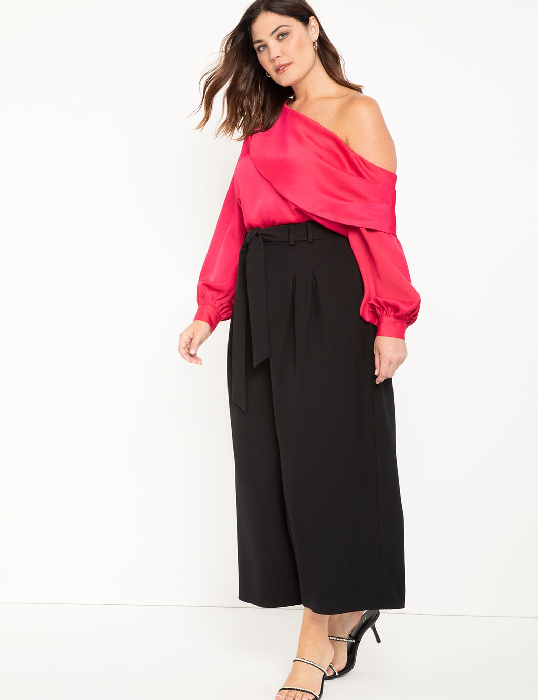 Off the Shoulder Draped Blouse