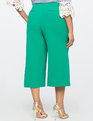 Wide Leg Cropped Side Pleat Pant Bright Emerald