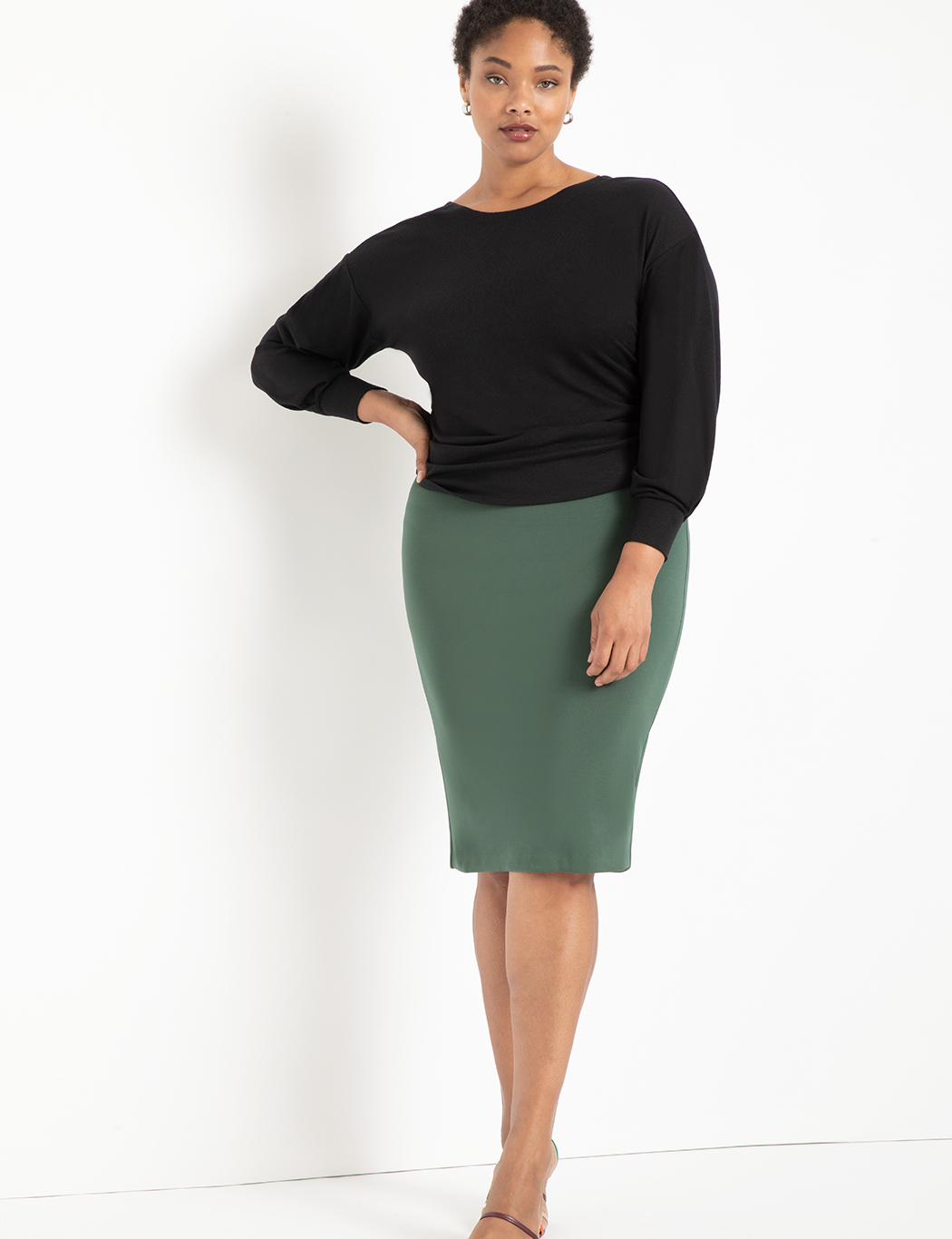Neoprene Pencil Skirt 13