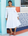 Fit and Flare Dress True White