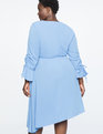 Gathered Sleeve Flounce Dress Della Robbia Blue