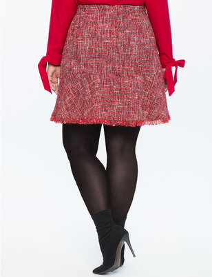 Tweed Fit and Flare Skirt