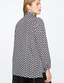 Printed Contrast Bow Blouse SQUIGGLY SANCTUARY