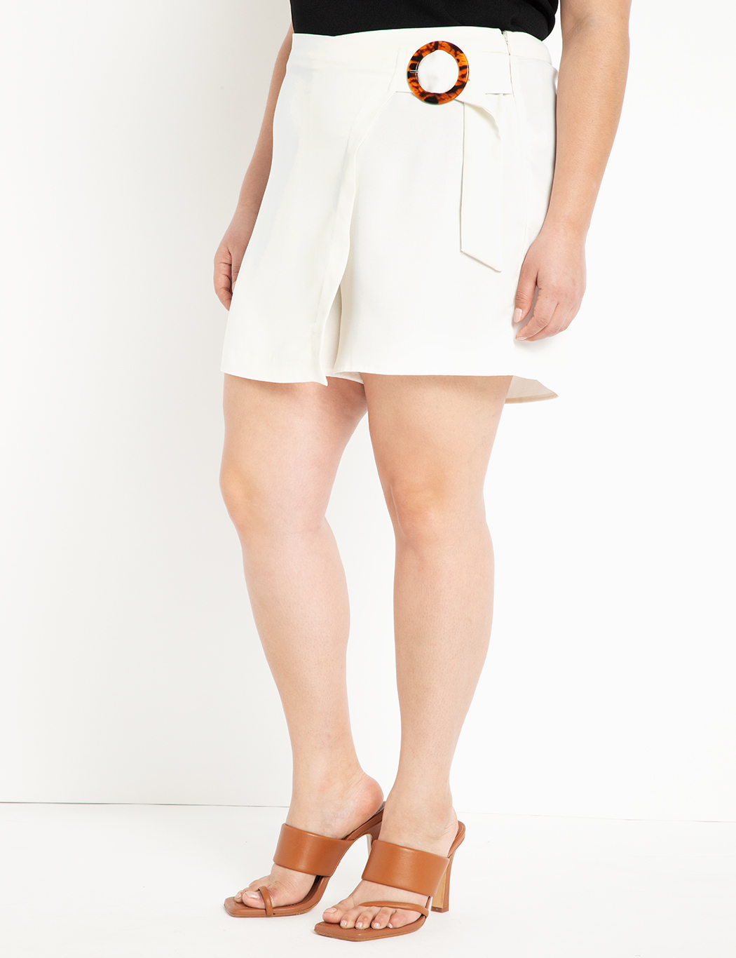 Wrap Front Skort with Buckle