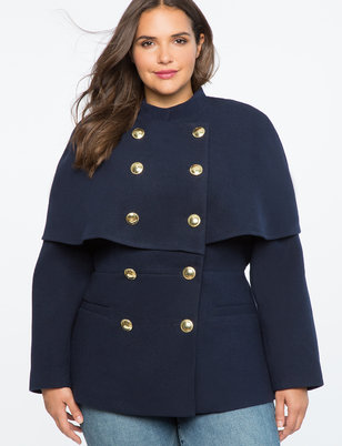 Peplum Cape Jacket