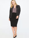 9-to-5 Windowpane Blazer Black + White Windowpane