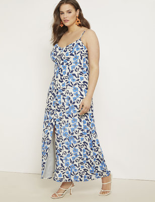 f6767c44775 Button Front Maxi Dress ...