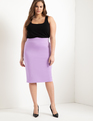 Neoprene Pencil Skirt English Lavender