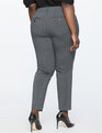 Kady Pinstripe Pant Charcoal Heather With White Pinstripe