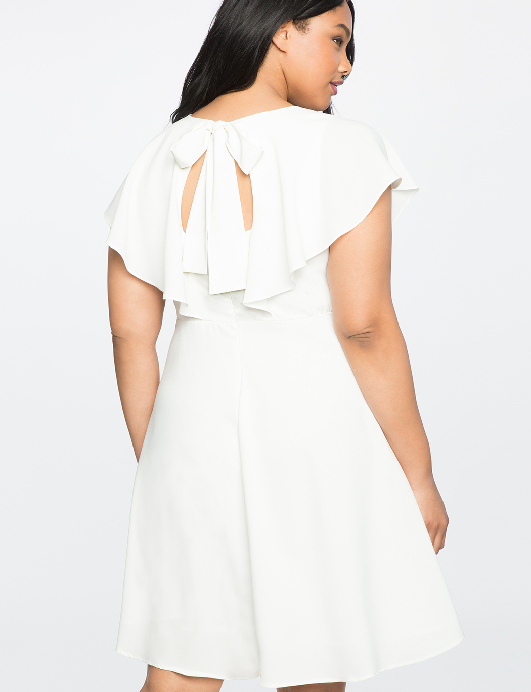 Tie Back Flutter Dress