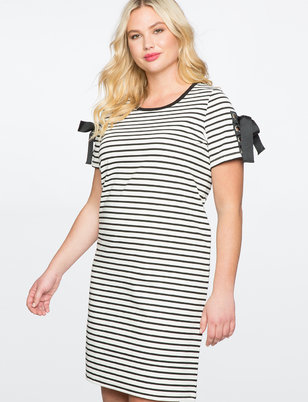 Tie Sleeve Tee Dress