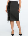 Pencil Skirt with Feather Detail