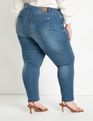 Viola Fit Peach Lift Distressed Skinny Jean Medium Wash