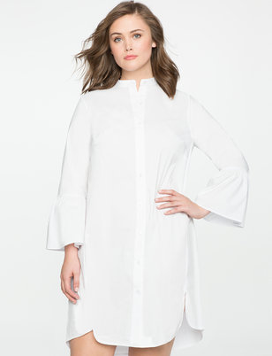 Shirt Dress with Flare Sleeves