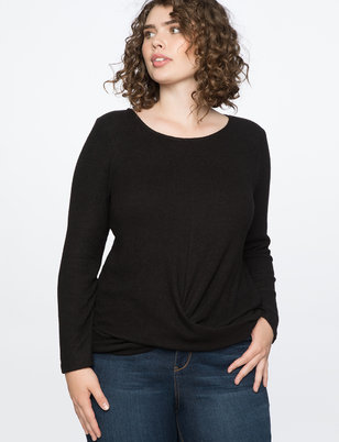 Draped Front Long Sleeve Tee