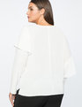 Ruffle Front Blouse Soft White