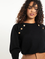 Button Neck Sweater Black