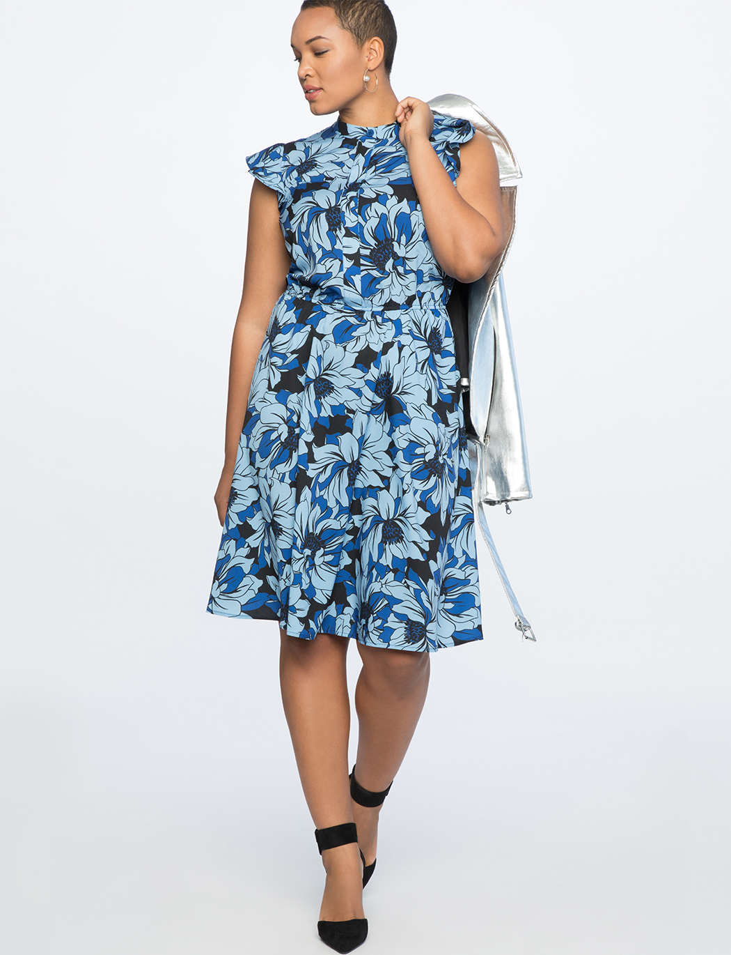Shirtdress with Ruffles
