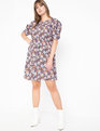 Printed Puff Sleeve Dress Violetta Visions