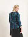 Puff Sleeve Blouse Heritage Plaid