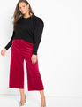 Crop Wide Leg Courduroy Pant Beet Red