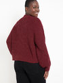 Sweater with Pointelle Detail Zinfandel