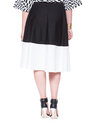 Colorblock Midi Black with Ivory