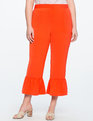 Ruffle Cropped Pant Deep Clementine