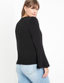 Flare Sleeve Sweater Totally Black