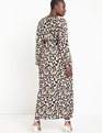 Maxi Dress with Double Slits Floral Silho