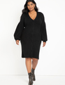 Cardigan Sweater Dress Black