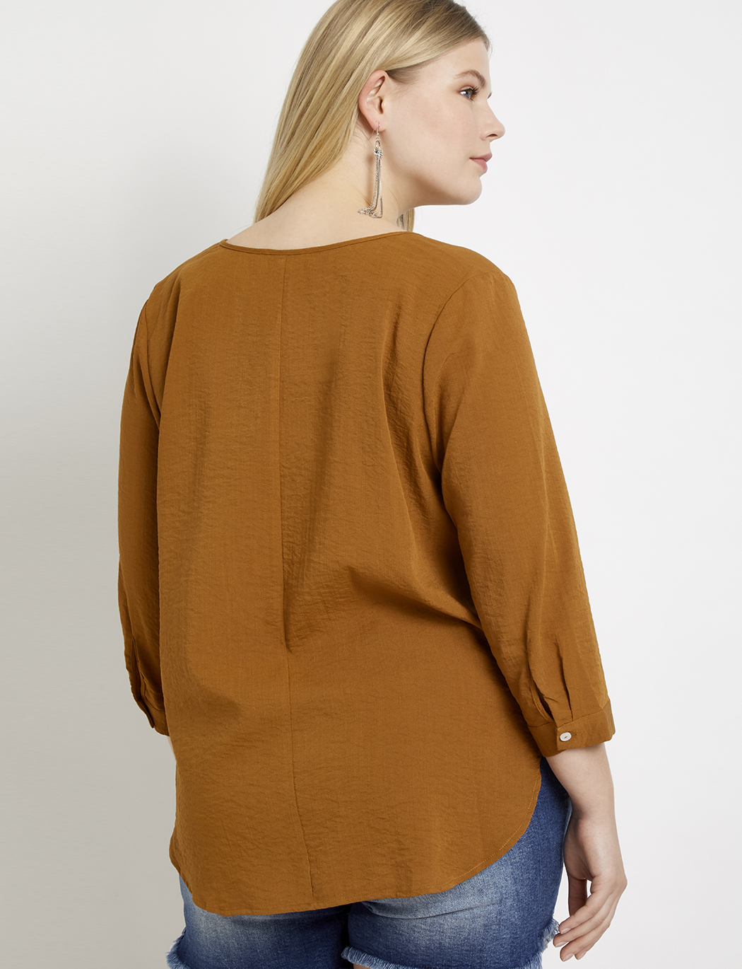 Split Front Tunic Top